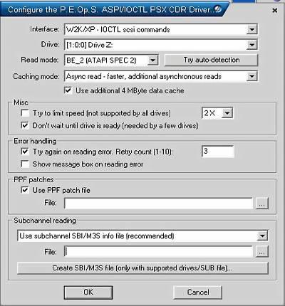Konfiguracja P.E.Op.S. CDR Driver