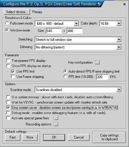 Konfiguracja P.E.Op.S. Soft Driver
