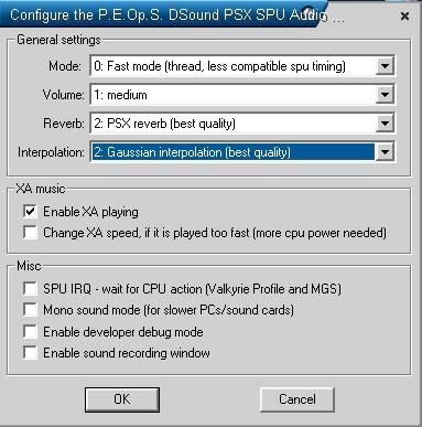 Konfiguracja P.E.Op.S. DSound Audio Driver