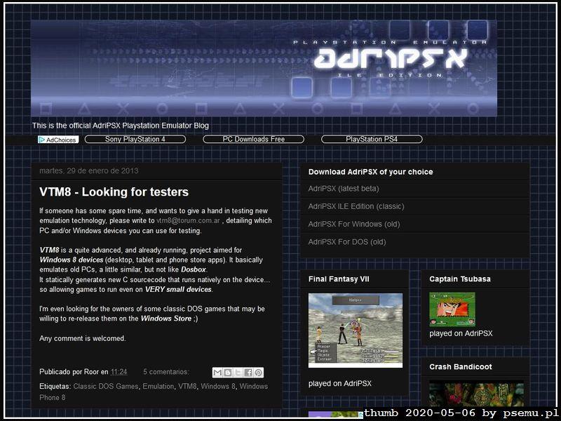 AdriPSX Homepage