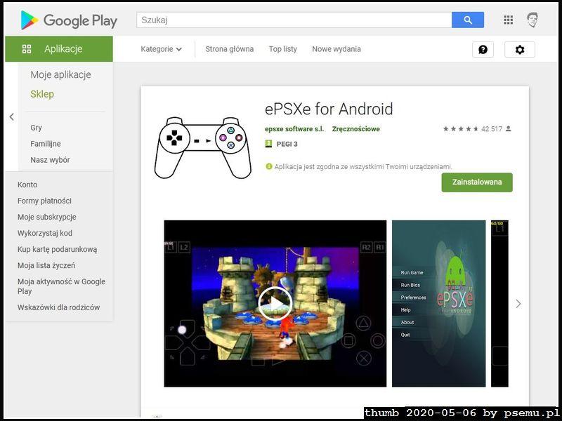 ePSXe w GooglePlay