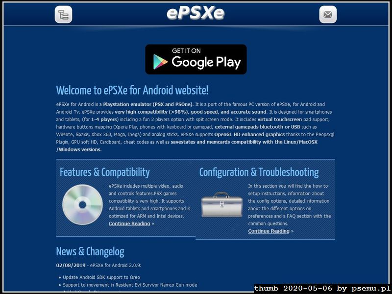 ePSXe Android Homepage