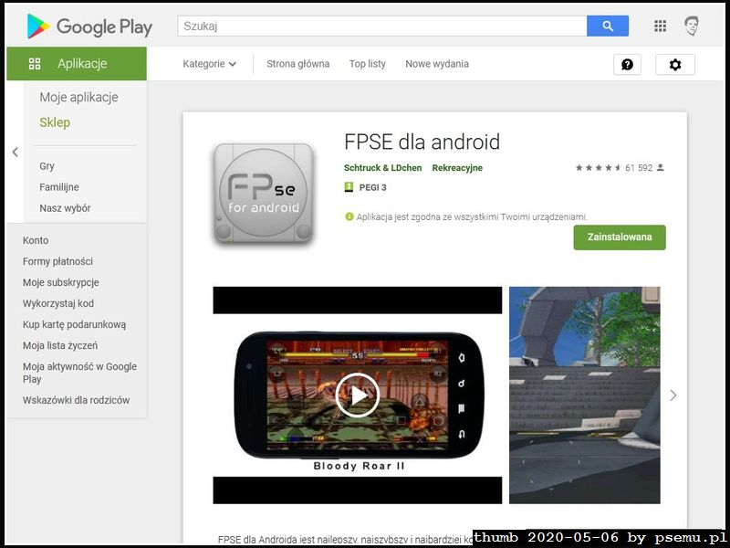 FPse w GooglePlay