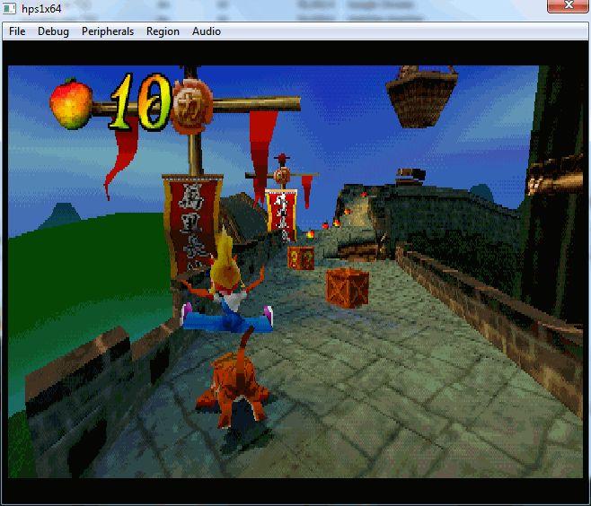 hps1x64 running Crash Bandicoot