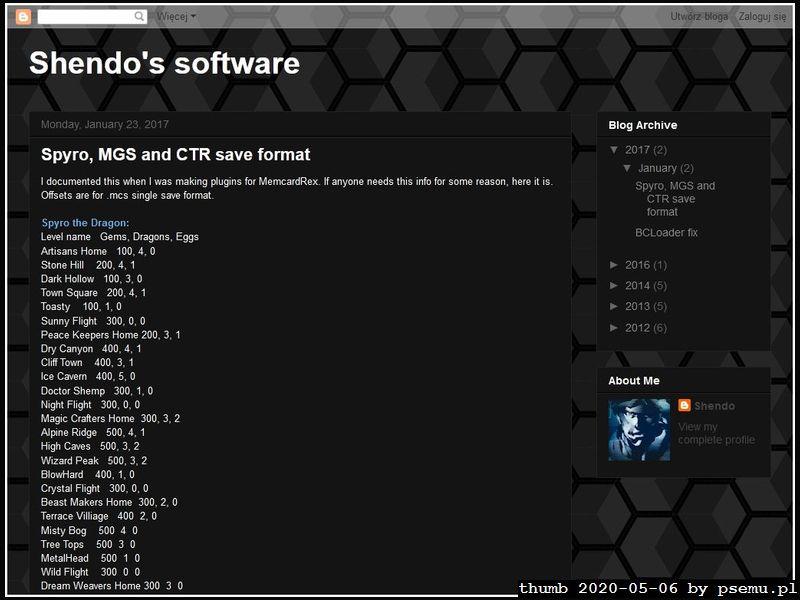 MemcardRex Homepage