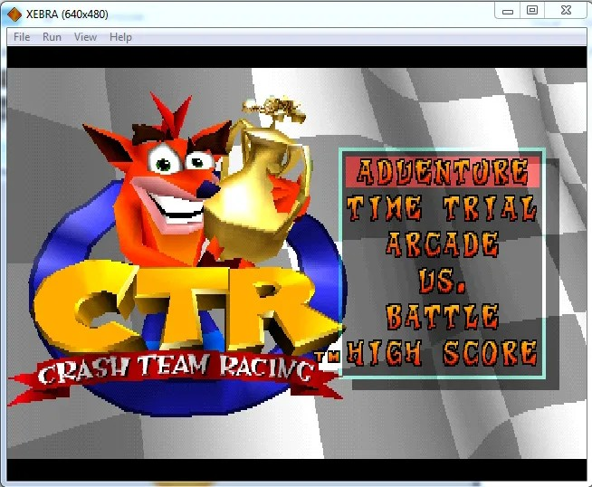 Xebra Emulator running Crash Team Racing