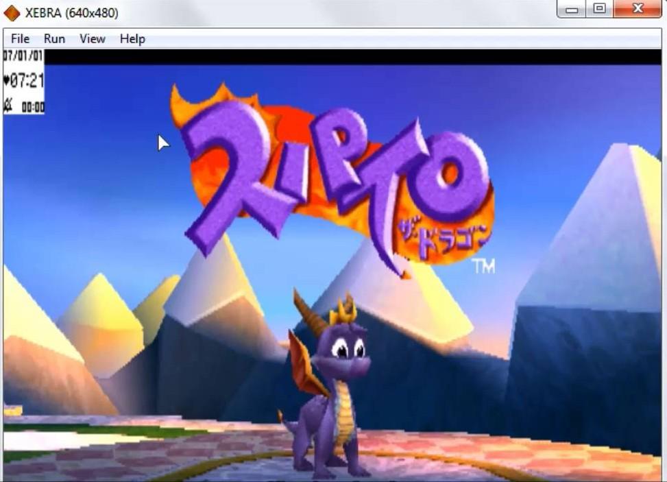 Spyro @ xebra emulator