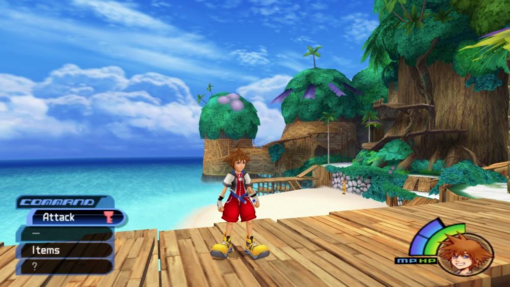 Kingdom Hearts running on PCSX2 emulator