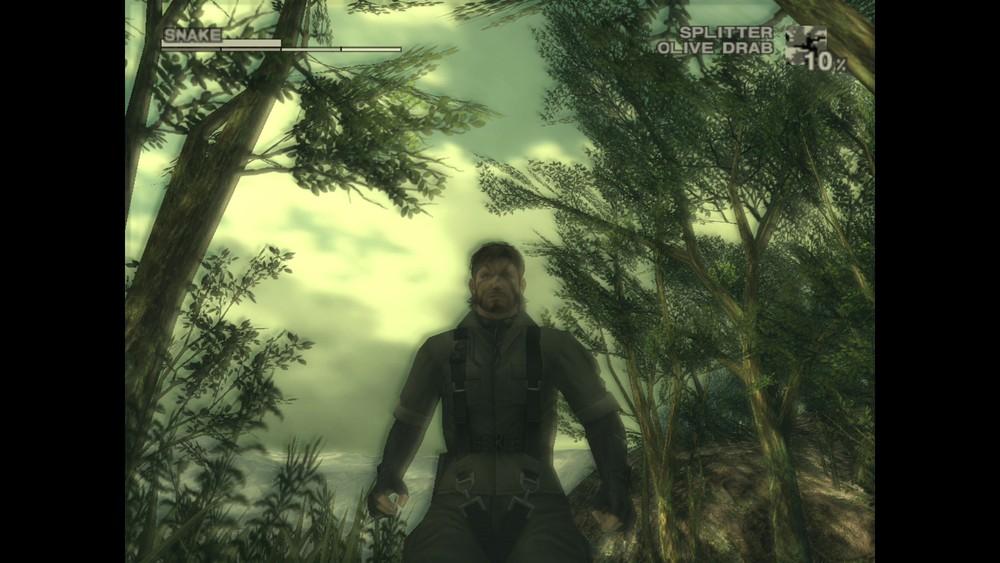 PCSX2 emulator running Metal Gear Solid 3.