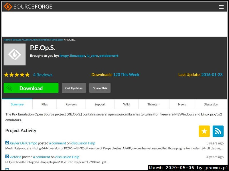 P.E.Op.S. Homepage