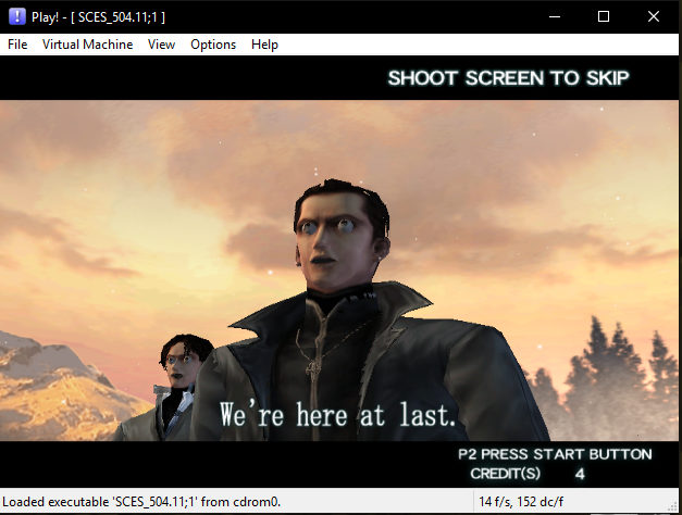 Play! PS2 emulator running on Windows