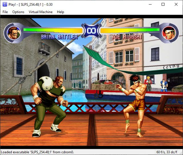 The King of Fighters '94 Re-Bout on Play! PS2 emulator