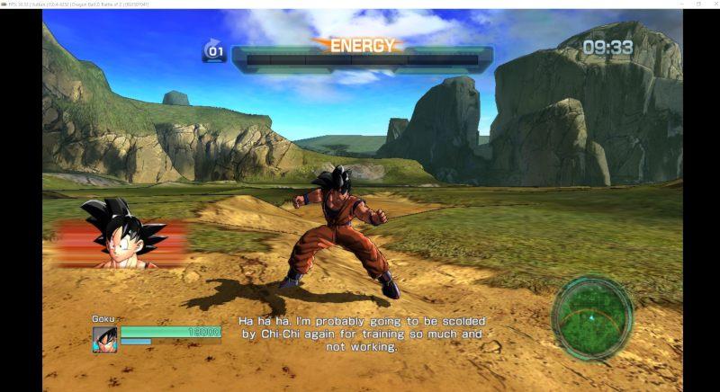PS3 emulator running Dragon Ball