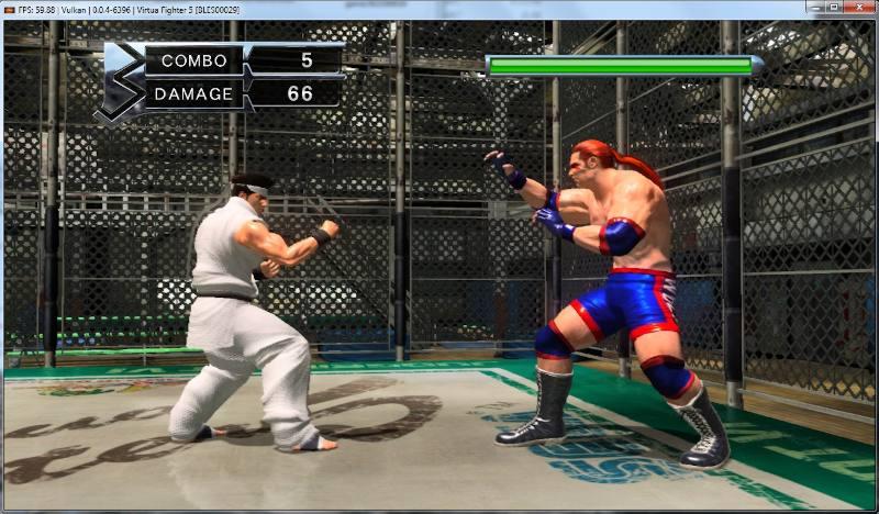 PS3 emulator running Virtua Fighter