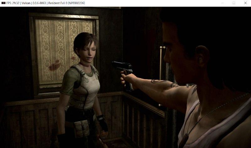 RPCS3 running Resident Evil 0 on Windows system