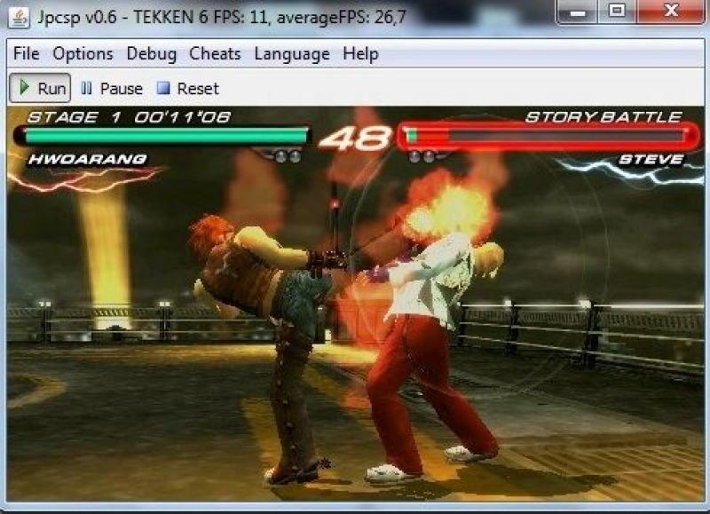 JPCSP running Tekken