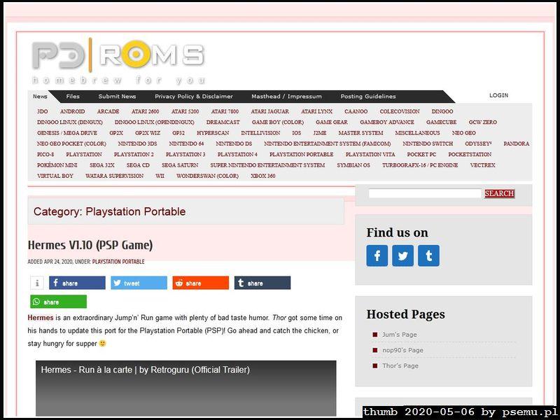 PDRoms PSP Homebrew