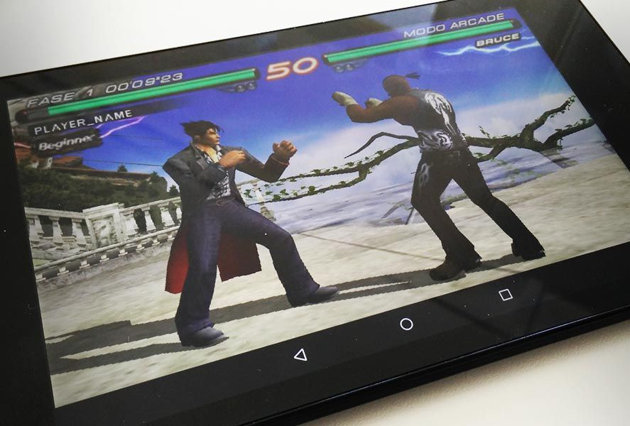 PPSSPP emulator on Android tablet