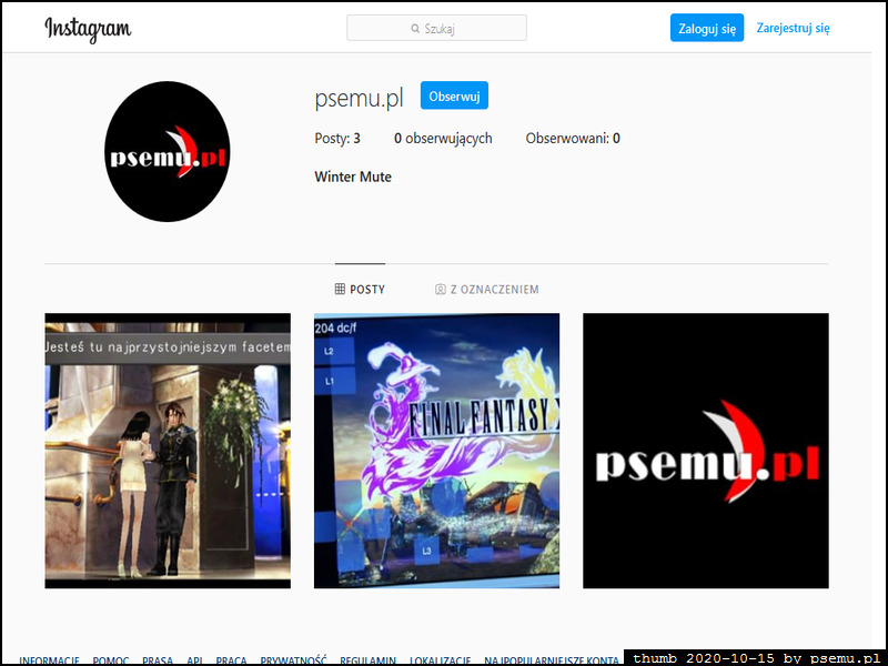 PSEmu.pl at Instagram